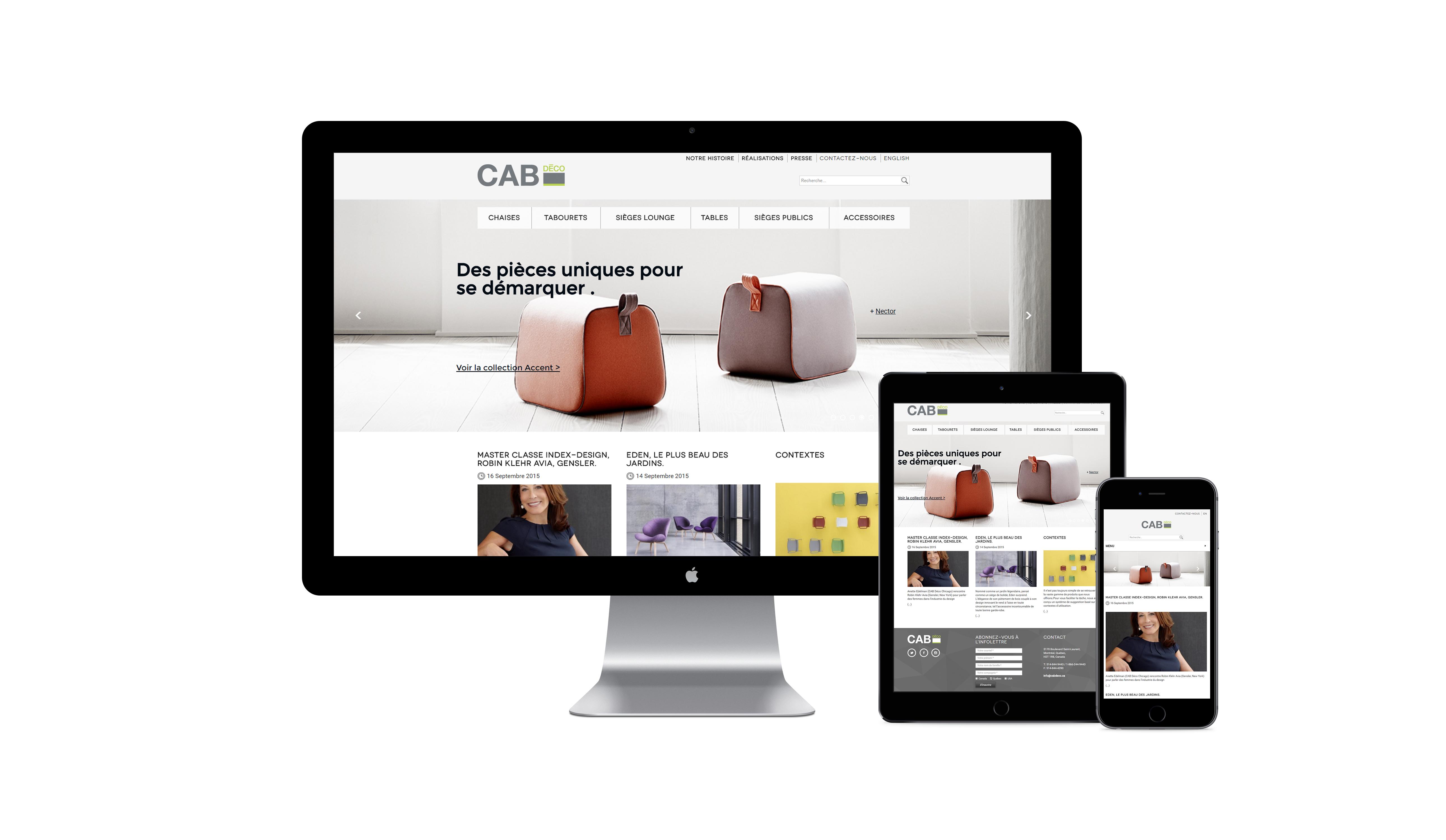 Cab d co mobilier moderne montr al commercial et r sidentiel for Mobilier moderne montreal